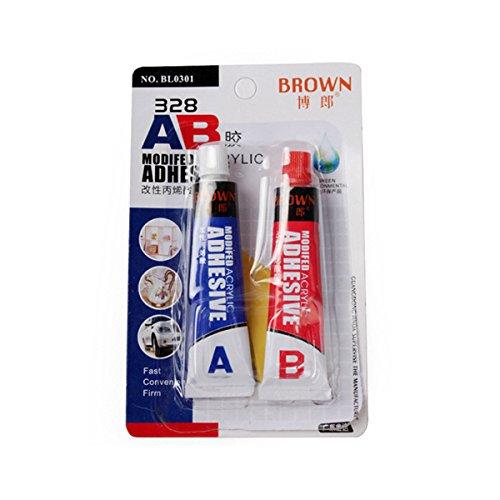 EsportsMJJ Bruin 328 16ml AB Gemodificeerde acryl lijm Super Sticky voor Kunststof Leer Rubber Reparatie