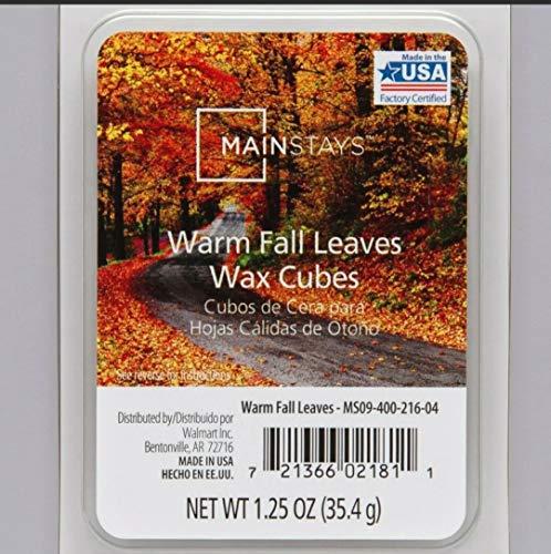 Mainstays - Cubi di cera a forma di foglie calde, 6 cubi