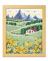 オリムパス製絲 ししゅうキット アルプスの山並みとハイジの花畑 7425