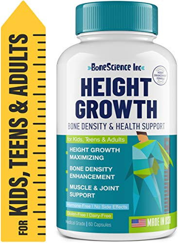 Height Growth Maximizer - Natural Peak Height - Made in USA - Height Pills Bone Growth - Grow Taller Supplement for Adults & Kids - Height Increase Pills - Maximum Height Growth Formula to Get Taller