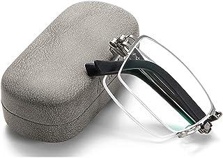 Mannen Puur Titanium Draagbare Opvouwbare HD Anti-Blu-Ray Leesbril Progressieve Multifocale Anti-Vermoeidheid Vergrootglas...