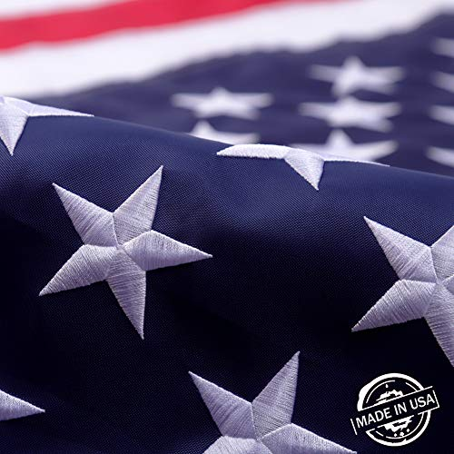 American Flag 3x5US Flag 3x5100% American MadeThe Best Embroidered Stars and Sewn Stripes American Flags Made in The USA 3 by 5 Foot
