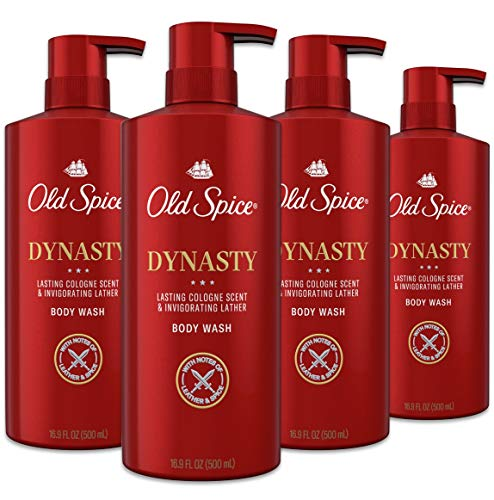 Old Spice Body Wash for Men, Aluminum Free, Dynasty Cologne Scent, 16.9 Fl Ounce, Pack of 4