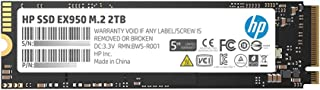 HP EX950 M.2 2TB PCIe 3.1 x4 NVMe 3D TLC NAND Internal Solid State Drive (SSD) 5MS24AA#ABC