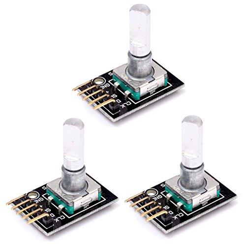 HiLetgo® 3個セット 回転式のエンコーダモジュール 360度 ロータリーコード モジュール エンコーダ Arduinoのために [並行輸入品]