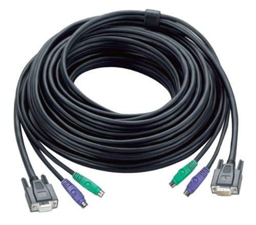 Aten 30ft PS/2 cable para video, teclado y ratón (kvm) Negro 10...