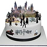 Adorno para torta comestible, diseño escena en relieve de Harry Potter,  fácil de usar