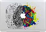 "Macbook Adesivi, Stillshine Smontabili Elegante Arte Pelle Skin Sticker Adesivo Vinyl Decal per Apple MacBook Pro/Air 13"" Laptop Decalcomania (Sinistra e Destra del Cervello)"