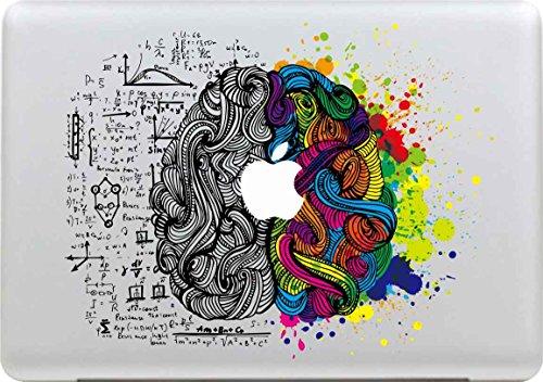Macbook Adesivi, Stillshine Smontabili Elegante Arte Pelle Skin Sticker Adesivo Vinyl Decal per Apple MacBook Pro/Air 13' Laptop Decalcomania (Sinistra e Destra del Cervello)