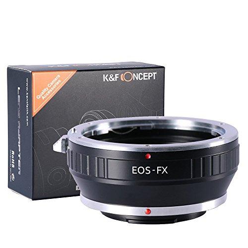 K&F Concept®マウントアダプターEOS-FX Canon EOS EF/EFSマウントレンズ-FUJIFILM FXマウントボディ用レンズアダプター