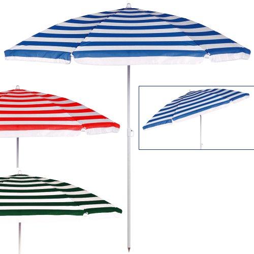 Deuba Strand Sonnenschirm 180 cm mit Neigefunktion in blau- weiß
