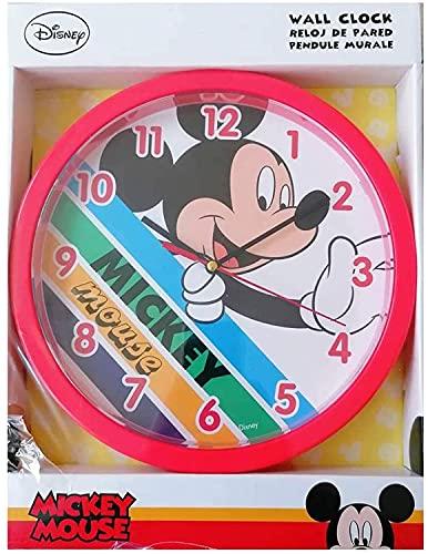 Mickey Mouse - Reloj de pared infantil (25 cm), diseño de Peppa Pig