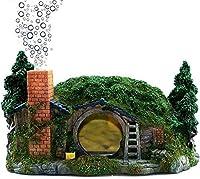 創造的な装飾樹脂ホビット小屋酸素泡造園水槽水族館装飾Deacute; cor装飾