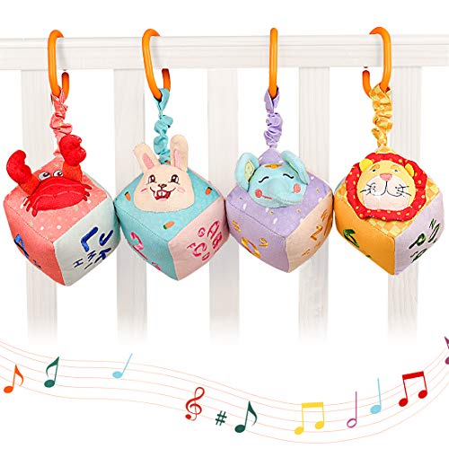 Juguetes para bebés de 0 3 6 12 Meses Colgando sonajero Clips de Cochecito Silla de Paseo Cuna Juguetes para niños pequeños Juguetes Blandos para la Cama del bebé
