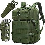 ATBPミリタリーメンズタウンリュックサックアウトドアバックパック40L大容量男女兼用出張通学通勤 旅行バッグパック用 Dリング 4個 (グリーン)