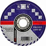 SBS Trennscheiben   125 x 1,0mm   50 Stück   INOX   Flexscheibe für Stahl / Edelstahl