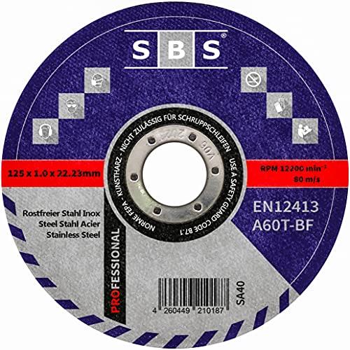 SBS Trennscheiben | 125 x 1,0mm | 50 Stück | INOX | Flexscheibe für Stahl / Edelstahl