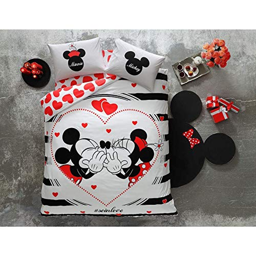 cute Mickey and Minnie in love bedding