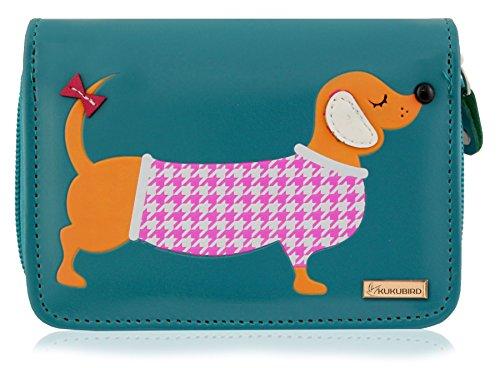 Kukubird New Girls/Ladies Medium Dachshund Cartoon Designs Purse Wallet -...