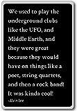 Solíamos jugar a los clubes subterráneos como la UF. Imán para nevera con citas Alvin Lee, negro