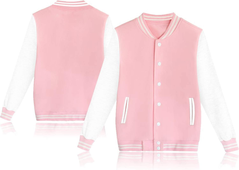 BOSON Women's Men's Baseball Jackets Unisex Pullover Hoodie Sweatshirts Casual Sport Sweater Coat