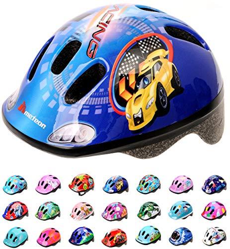 meteor-Kinder Fahrradhelm, Skaterhelm, Sicherheitshelm (Racing, XS)