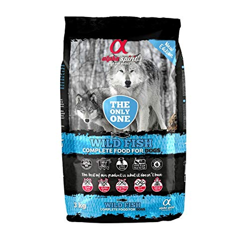 ALPHA The Only One Canine Adult Pescado 3KG, Negro, Mediano ⭐