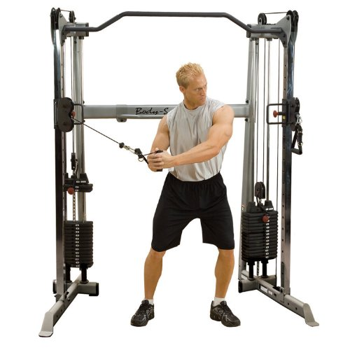 Body-Solid GDCC-200 Functional Training Center Multi-Kabelzug Cable Crossover (2 x 95kg Gewichtspaket)