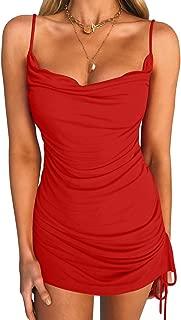 red sleeveless bodycon dress