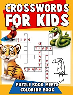 Crosswords for Kids: Puzzle Book Meets Coloring Book: The Ultimate Puzzle Activity Book for Children with Reproducible Wor...