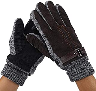 Daphot-Store - Motorcycle Gloves winter Men Cycling Driving Anti-Slip Touch Screen Sport Full Finger Gloves Leather racing waterproof revit