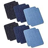 CTGVH Jeans-Flicken für Kleidung, Patches zum Aufbügeln, Jeans Bügelflicken, Aufbügelflicken, 3 Farben, 12 Stück