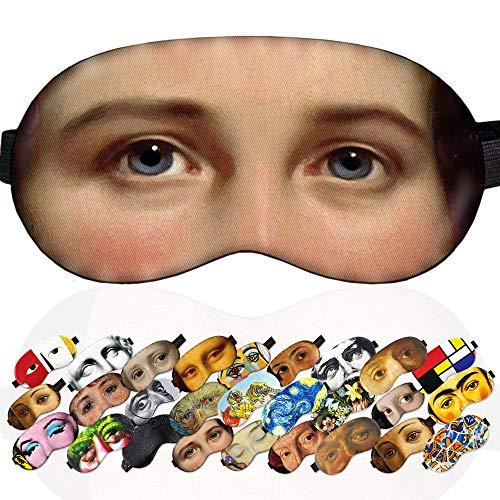 Sleep Mask Alida Christina Assink Jan Adam Kruseman Masterpiece for Women - 100% Soft Cotton - Comfortable Eye Sleeping Mask Night Cover Blindfold Mask (Alida Christina Assink, Plastic Pack)