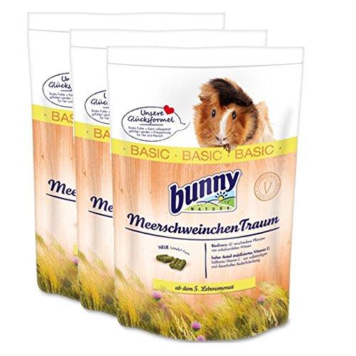 3 x 4 kg = 12 kg Bunny Meerschweinchen Traum Basic FRISCH Meerschweinchentraum