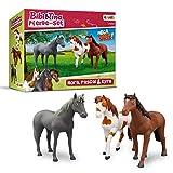 CRAZE BIBI & TINA Spielfiguren Pferdeset 3er Set Pferde zum Sammeln und Spielen Nora Pascal Kyra 14660 -