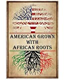 AZSTEEL American Grown with African Roots | Poster No Frame