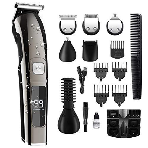 11 in 1 Tagliacapelli Kit, Tagliacapelli Uomo Professionale Elettrico Per Rimuovere i capelli dal Naso e Barba Tagliacapelli Elettrico Regolabarba