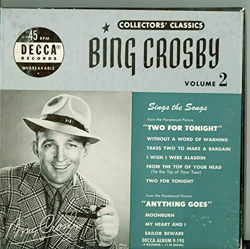 Collector's Classics Vol 2 - Original Box Set - 4 vinyl 45s, 8 Songs w/Without A Word Of Warning / | Takes Two To Make A Bargain / I Wish I Were Aladdin / From The Top Of Your Head plus 4 more - Bing Crosby (Decca 1951) Near-Mint (7 out of 10)