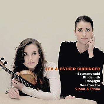 Szymanowski & Hindemith & Respighi: Sonatas for Violin and Piano