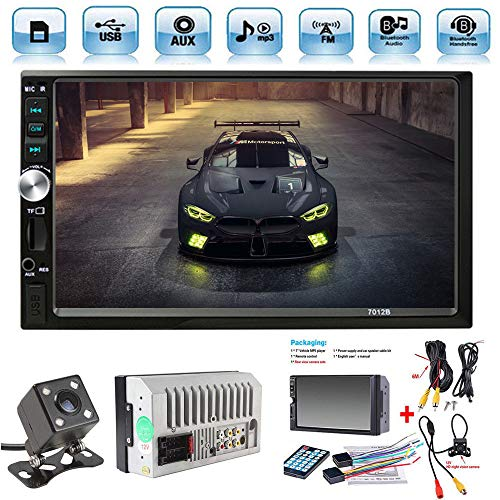 Radio Coche 2 DIN Car Stereo 7 Pulgadas HD Bluetooth