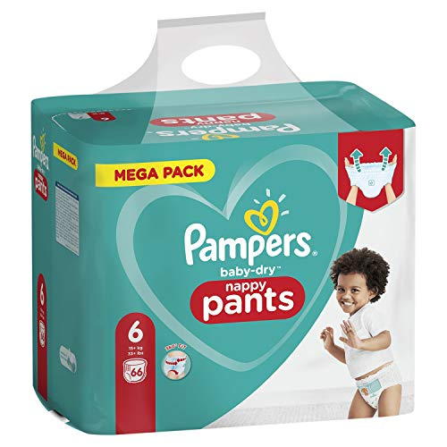Pampers Baby-Dry Pants Size 6, 72 Nappy, 15kg +