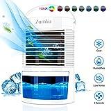 ZumYu Condizionatore Portatile Personale Raffreddatore D'aria, Maniglia, 3 Velocità, 7 Luci...