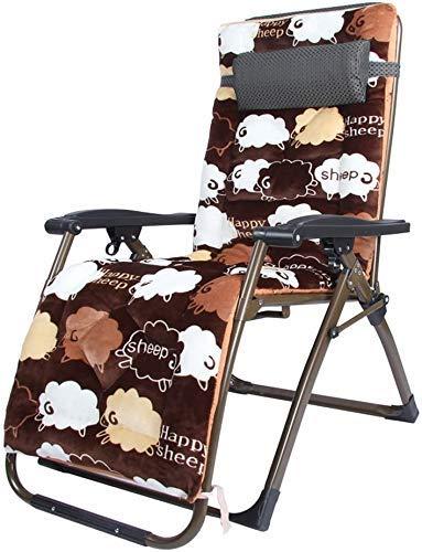 Silla de gravedad Reclinable reclinable de silla de silla plegable de reclinación reclinables de silla plegable con cojín de almuerzo Siesta Siesta oficina balcón balcón mujer embarazada Sillón de sal