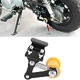 Kuuleyn Ajustador de cadena de motocicleta, 3,7-4,3 cm/1,46'- 1,69' Ajustador de cadena tensor Perno en rodillo Accesorios modificados para motocicleta(Regulador de cadena/negro)