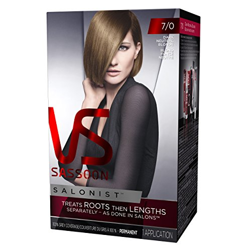 Vidal Sassoon Salonist Hair Colour Permanent Color Kit, 7/0 Dark Neutral Blonde, 1 Count (Pack of 2) (PACKAGING MAY VARY)