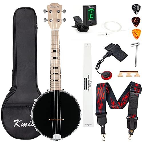 Kmise Banjolele Banjo Ukulele Concert Size 23 Inch with Bag Tuner Strap Strings...
