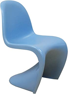 Mod Made Mid Century Modern Molded Plastic S-Shape Chair Dining Chair, Blue