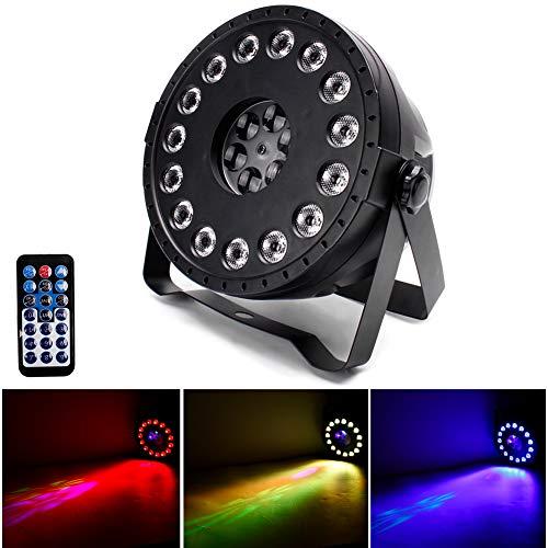 UKing LED Strahler Par Scheinwerfer 15 X 2W LED Bühnenlicht DMX mit 4 Muster Sound Aktiviert per Funkfernbedienung RGB Lichteffekte für DJ Disco Hochzeit Partylicht