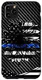 iPhone 11 Pro Max Blue line sunflower hippie Case