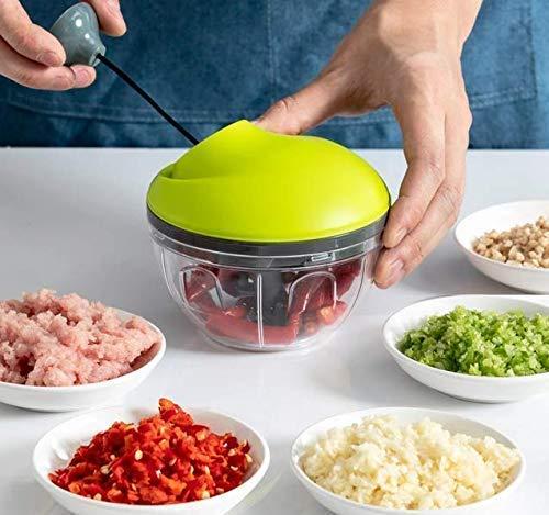 Mozall. Manueller Zerkleinerer für Lebensmittel, Obst, Gemüse, Nüsse, Kräuter, Zwiebeln, Knoblauch, für Salsa, Salat, Pesto, Krautsalat, Püree.
